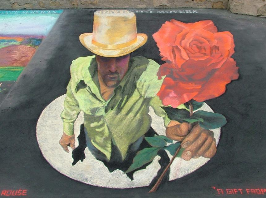 Santa Barbara, Chalk Art, Street drawing