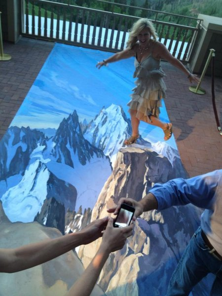 3D Mountain street art