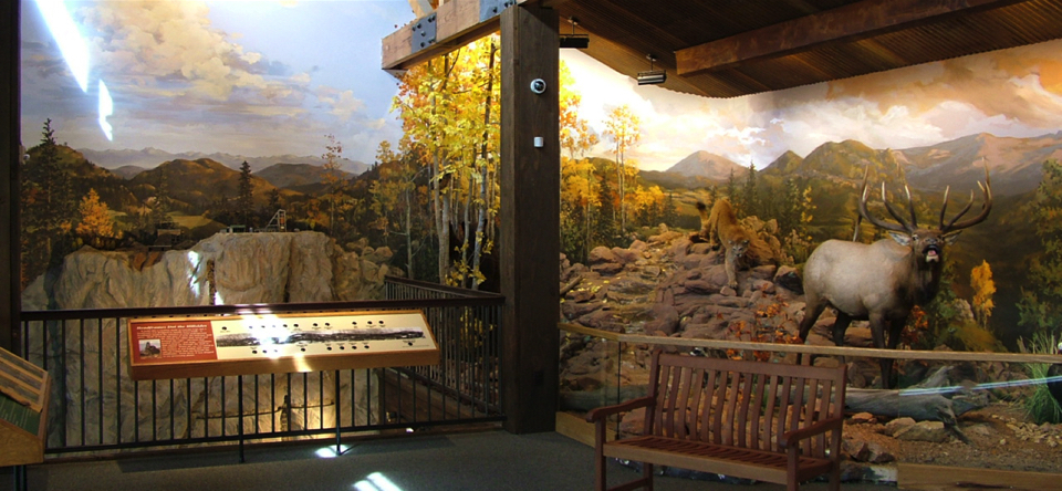 Exhibit Murals - Cripple Creek Heritage Center